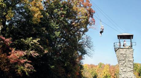 Fall Foliage - Unique Ways - Zipline