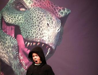 Dinosaur and Kid