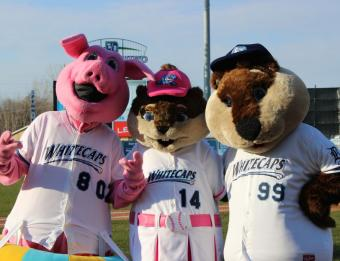 West Michigan Whitecaps Mascots
