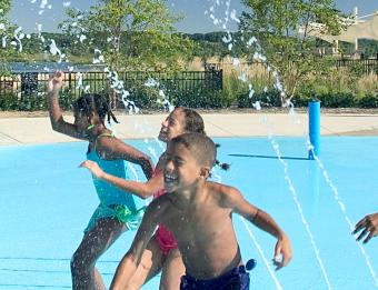 Millenium Park splash pad