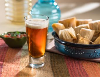 Beer and tamales