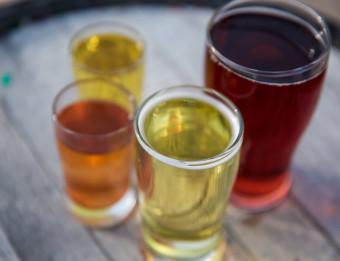 Cider outside at Vander Mill.