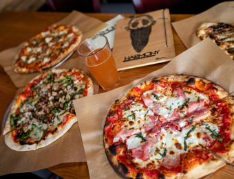 "Harmony Brewing has been voted ""Best Pizza in West Michigan"" by Revue Magazine readers for three consecutive years."