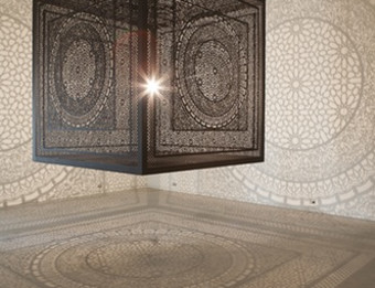 Intersections by Anila Quayyum Agha Public and Tied for Jurors' Grand Prize Winner 2014
