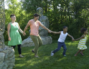 Family exploring Frederik Meijer Gardens & Sculpture Park