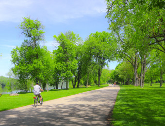 Copy of Biking in Riverside Park
