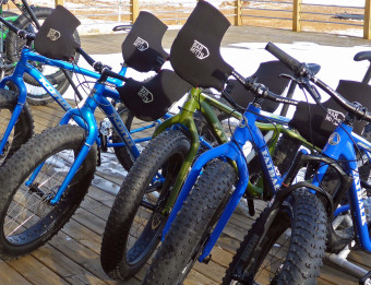 Fat-tire biking at Indian Trails Golf Course 2