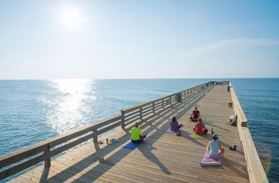 Wrightsville Beach Pier Yoga