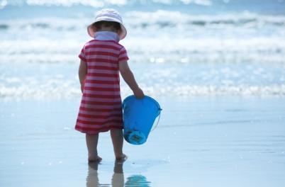 Girl w/ bucket
