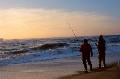 Fishermen on beach