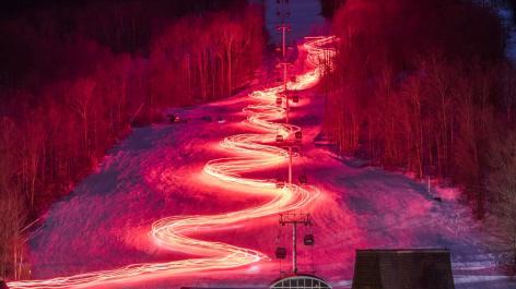 Gore Mountain Torch Light Parade & Firework