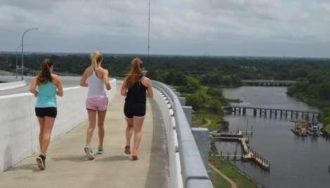 Runners on South Norfolk Jordan Bridge