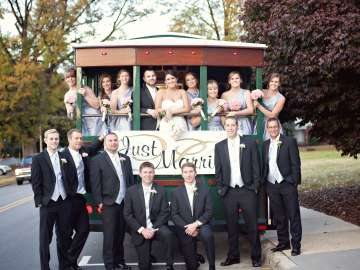 Trolley rented for a wedding