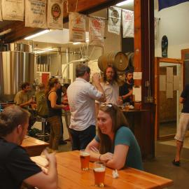 Crowd at Loowit Brewing