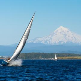 Sailboat on the Columbia River