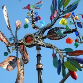 Kinetic Art Phoenix Sculpture Downtown