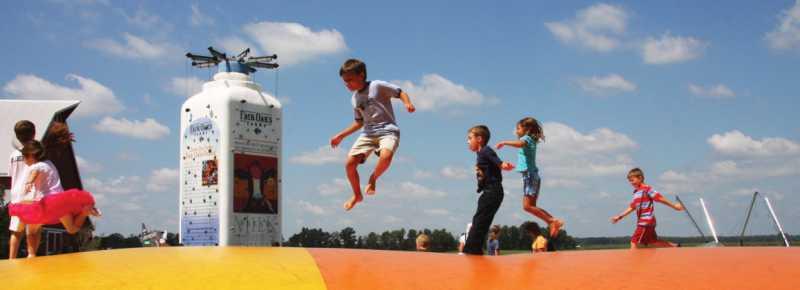 Kids playing at Fair Oaks Farms