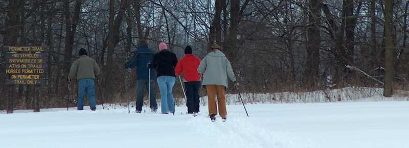 Cross-country skiing in Northwest Indiana