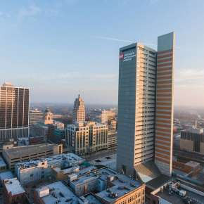 Fort Wayne Winter Skyline