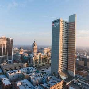 Fort Wayne Winter Skyline