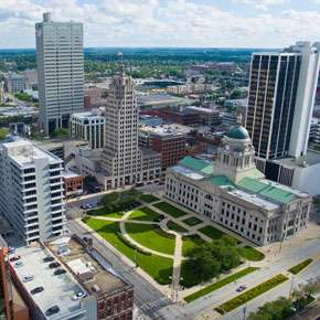 Downtown Fort Wayne Skyline 2015