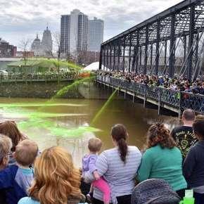 Get Green Celebration, Wells Street Bridge, Fort Wayne