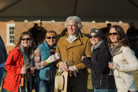 thomas jefferson reenactor with group