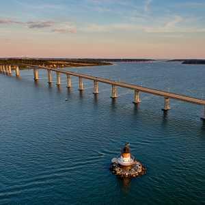 Jamestown Bridge and Plum Beach Lighthouse