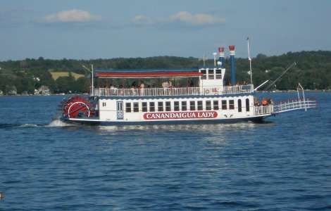 The Canandaigua Lady cruises on Canandaigua Lake
