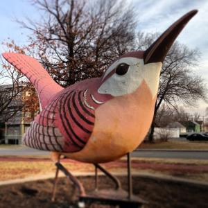 Giant bird greets Downtown visitors