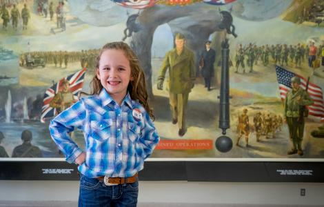 Macey at Eisenhower Museum