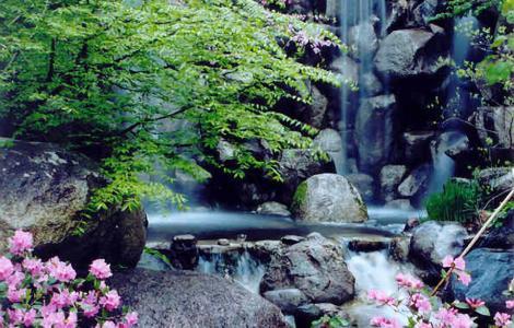 Rockford, Illinois Anderson Japanese Gardens Waterfall