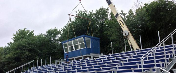 Press Box Installation
