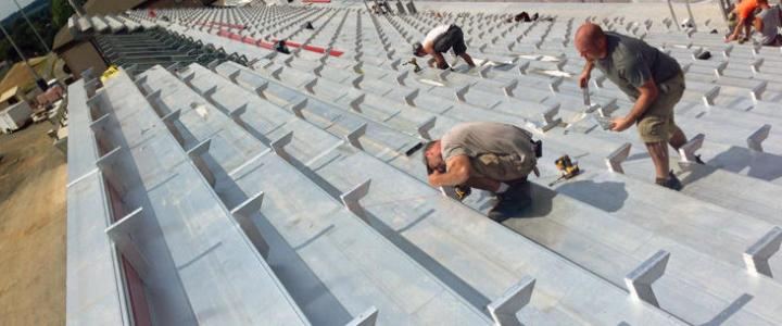 Bleacher installation process