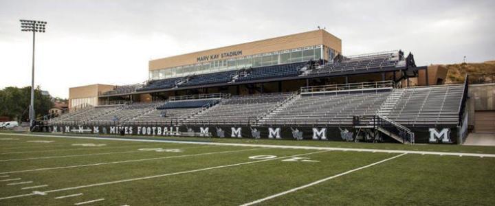 Colorado School of Mines football bleachers