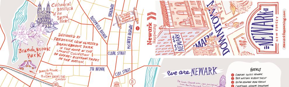 Downtown Newark Map