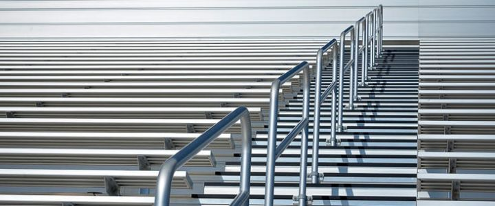 Bleacher railings