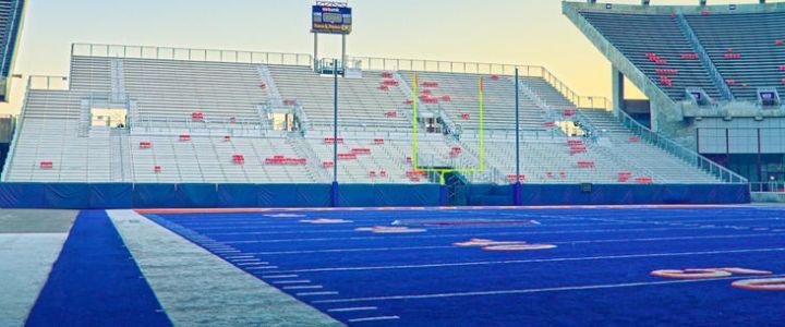 Boise State University football bleachers