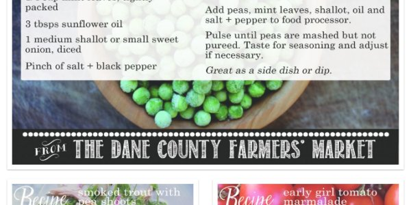Spring Season Recipes: Dane County Farmers' Market