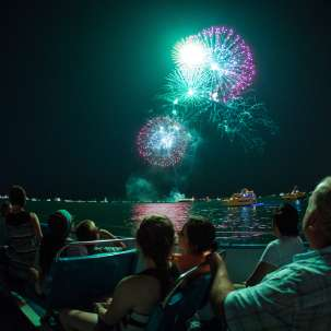Fireworks boat tour with Mercury Skyline Cruiseline