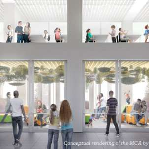 MCA Chicago building redesign rendering