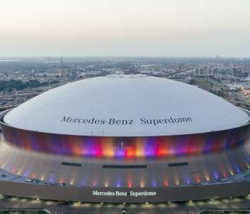 Superdome from Hyatt Regency Rooftop