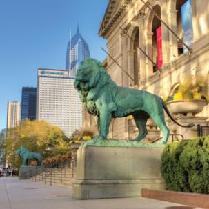 Lions at the Art Institute of Chicago