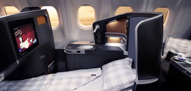 SAS Business class bed