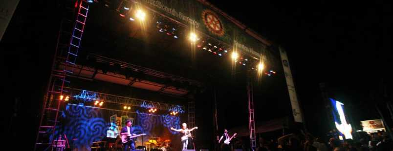 Jazz in the Woods Concert Stage Dark