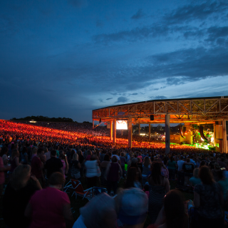 Klipsch Music Center at night
