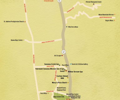 Boyes Hot Springs Map