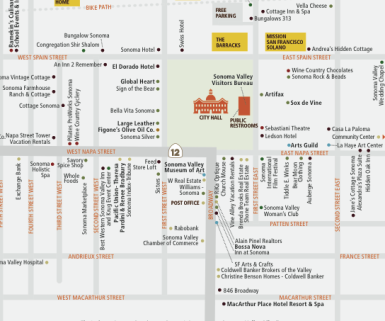 Sonoma Plaza Map