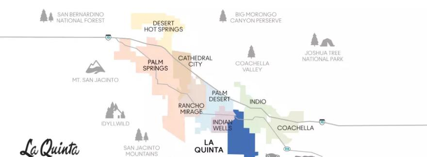 La Quinta CA A Visitors Guide - Southern california map la quinta