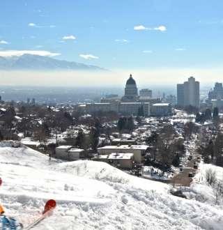 Skiing in Ski City